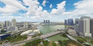 360 aerial panoramas in Singapore
